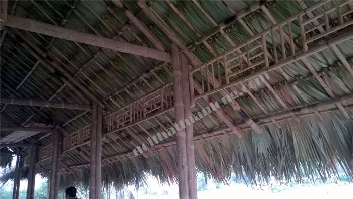 Thi công Nhà mái lá tại Hồ câu Phong Tâm thành phố Hải Dương