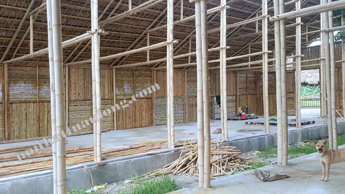 Thi công khu du lịch thực nghiệm bằng chất liệu tre trúc tại Thanh trì - Hà Nội