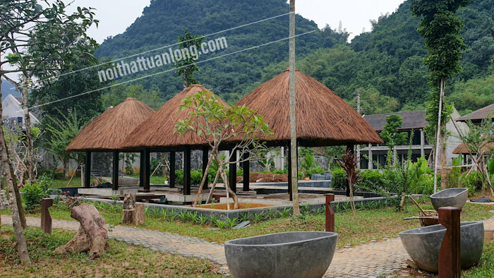 Nhà chòi lợp mái Guột  khu Resort tại Tràng An - Ninh bình
