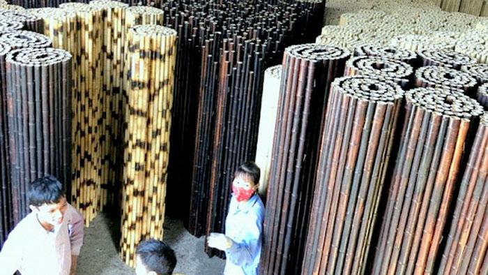 Cung cấp vật liệu tre trúc, tầm vông , lá cọ, cỏ tranh , guột , vọt .
