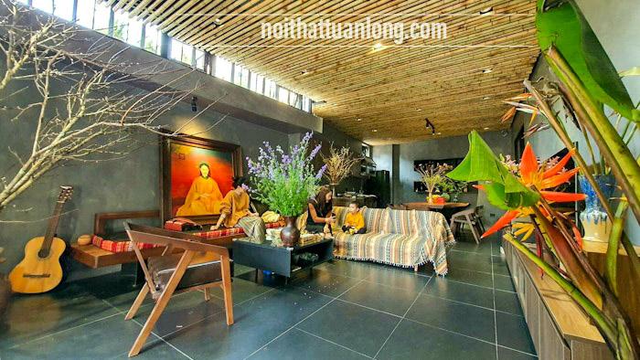 Thi công trần tre trúc nhà Anh Thanh KTS tại Đông Dư - Gia lâm - Hà nội