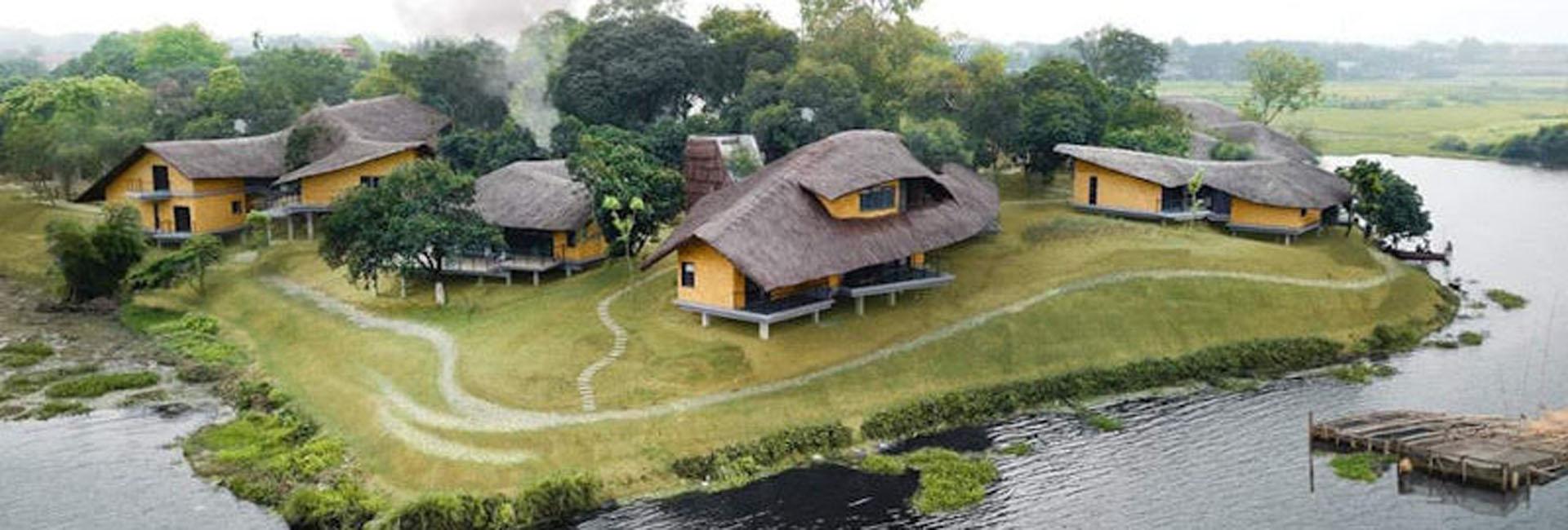 Nhà mái Guột làng Mít